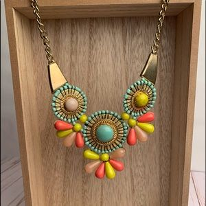 Woman's acrylic statement necklace